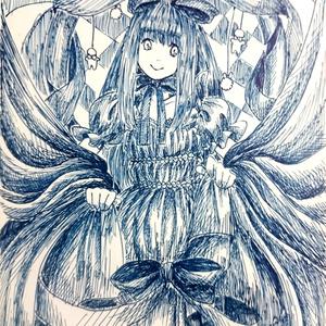 【原画】ポストカード(アリス)【一点物】
