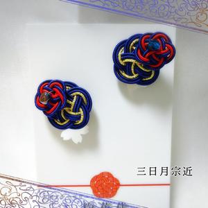 刀剣乱舞キャライメージ 水引 ピアス/イヤリング 〖重ね梅〗