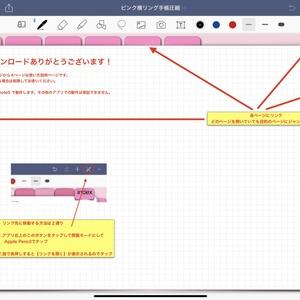 9.ipadで手書き手帳2019-1-12 GoodNotesアプリ用  iPadで手書きスケジュール  2019 リンク付きインデックスタブで 月間ページ、週ページへ自在に行き来できます。ノート付きで便利!目的のページへジャンプ(Goodnotes5用)ピンク系     DP-B-PINK