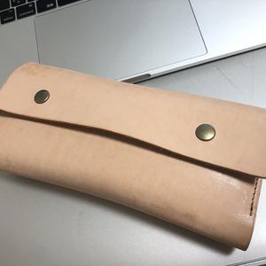 牛本革MiniAxe用キーボードケース  ナチュラルカラー (ケースのみ)