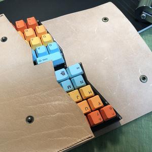 牛ヌメ本革キーボードケース mint60専用