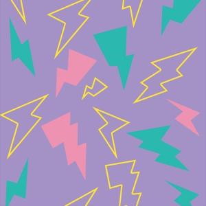 電気(紫)iPhoneケース