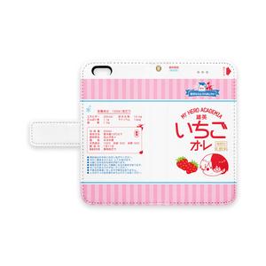 【ヒロアカ】いちごオレiPhoneケース(ストライプ)