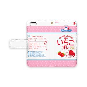 【ヒロアカ】いちごオレiPhoneケース(ドット)