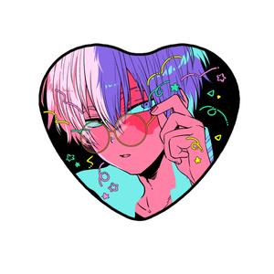 【ヒロアカ】おしゃれメガネ缶バッジ(轟)
