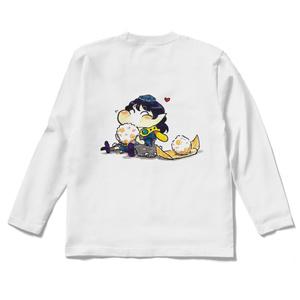🍙後面印刷ロングスリーブTシャツ