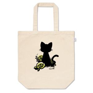 黒猫と薔薇 *黄緑*