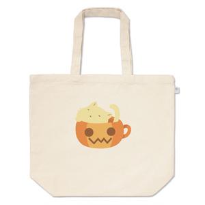 かっぷにゃんこ *ぽかぽかぼちゃ* 白猫