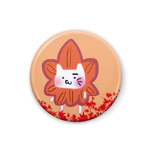 【アヤメ作成】もみじ饅頭にゃん缶バッチ