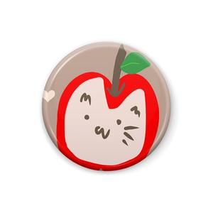 【アヤメ作成】りんごにゃん缶バッジ
