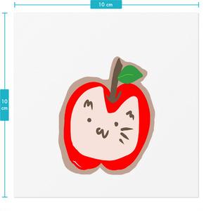 【アヤメ作成】りんごにゃんステッカー