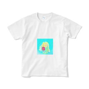 アヤメちゃん書き下ろしアマビエさんTシャツ(柄小さめver.)