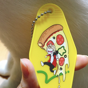え〜すり*たるちのピザキーホルダー