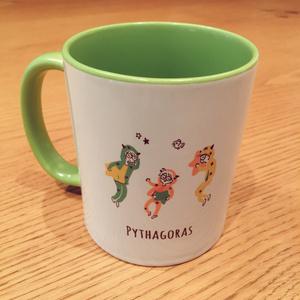 ◇i7*おやすみピタゴラマグカップ