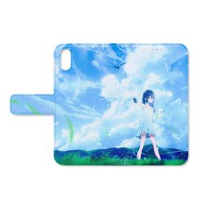 晴生家 手帳型iPhoneケース