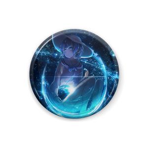青の惑星缶バッジ