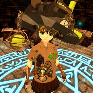【VRoid用テクスチャ】ファングッズ グラフィックポロシャツ&スカート【フィオさん】