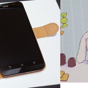 手帳型Androidケース【お菓子柄】