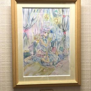イラスト原画【恋する三角フラスコ】