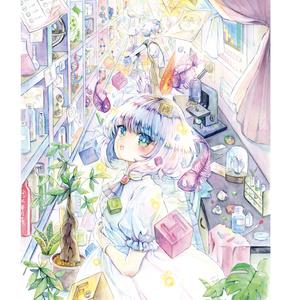 新刊イラスト集【夜明けのエレメンツ】(おまけ本付き)