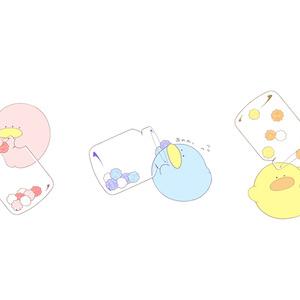 アクリルキーホルダー【金平糖瓶といっしょ】