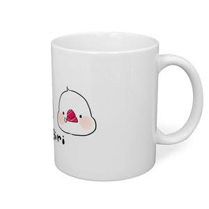 文鳥おにぎりマグカップ