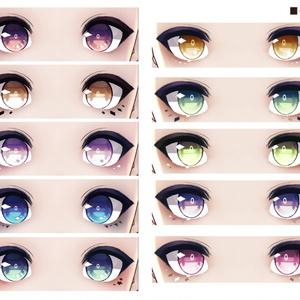 【無料版あり】VRoid向け瞳テクスチャセット