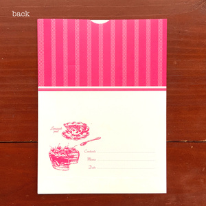 チェリーケーキクマ・ラッピング封筒Sサイズ25枚セット