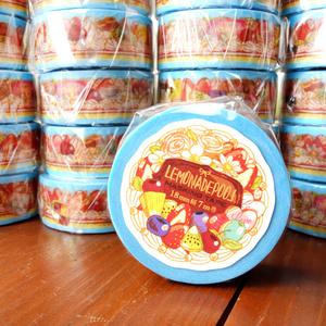 ずーっとケーキ柄お茶会マスキングテープ(フレークシール付き)