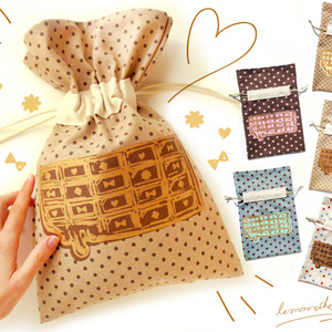 チョコ柄巾着♥5種類からお選び頂く商品です♥