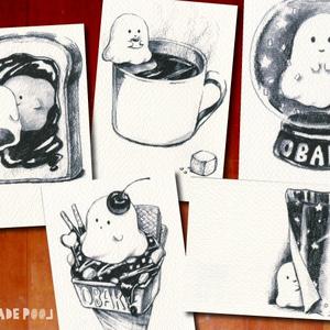 オバケのポストカード★5枚セット