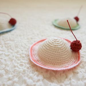 クリームソーダ帽子 ピンク L