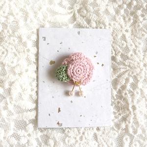 マグネット髪飾り 桃色椿
