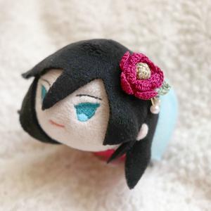 マグネット髪飾り 紅色椿(小)