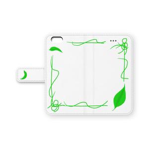 葉っぱの手帳型iPhone6ケース
