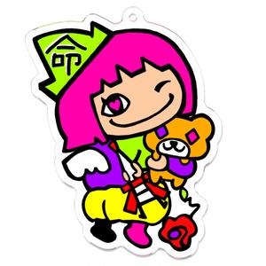 ピンク髪「命」魔法使いの女の子(アバターシリーズ)アクキー