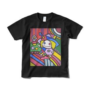 魔法使いのアートTシャツ(漆黒)