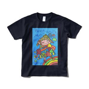 イメージ·アート·ワールド アートTシャツ(紺色)