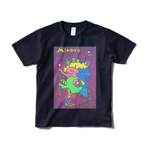「丸いドーナツと二面性」アートTシャツ(紺色)