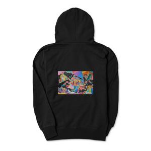 私と「共鳴」×「雨と睡蓮」アートパーカー