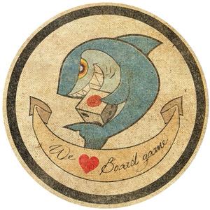 「We ♡ Board game」ビンテージシール