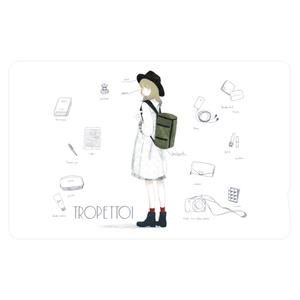 「travel ;)」 ICカードステッカー_white ver