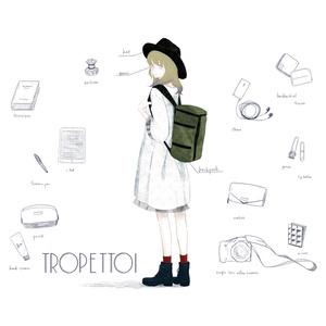 「travel ;)」トートバック_white