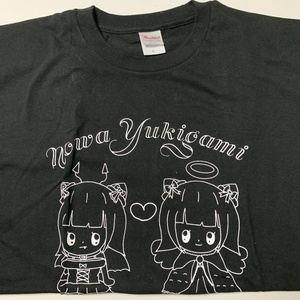 のわデザイン天使と悪魔Tシャツ