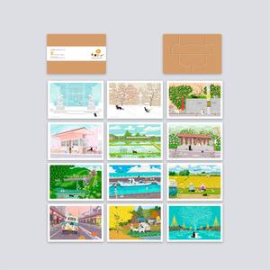 ポストカード Bセット(作家手作り-12枚入)