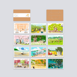 ポストカード Cセット(作家手作り-12枚入)