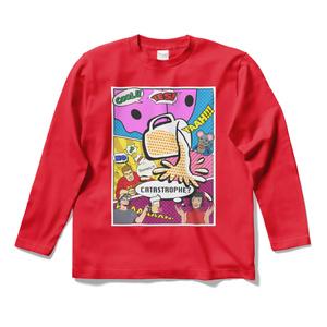そめった長袖Tシャツ(Dangerous Red)