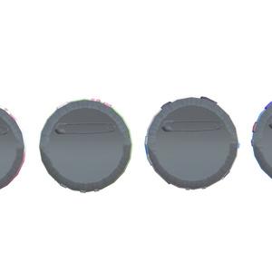 【VRChat用】にじさんじ ロリ組キーホルダー&缶バッジ3Dモデル