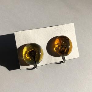 まんまるガラスイヤリング