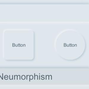 ニューモフィズムデザインのボタン素材(png/SVG/XD/unitypackage)